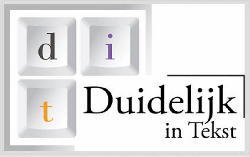 Het logo van Duidelijk in Tekst