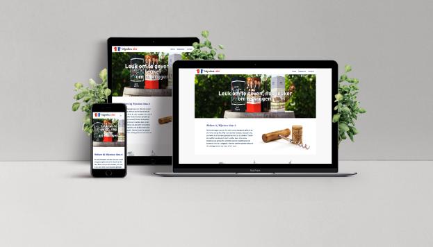 Responsive Website Wijndoos-Idee mobiel