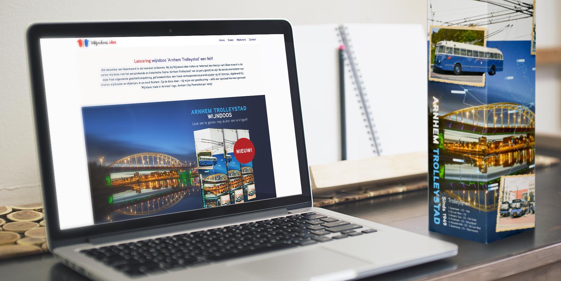 Website en wijndoos Arnhem trolleystad