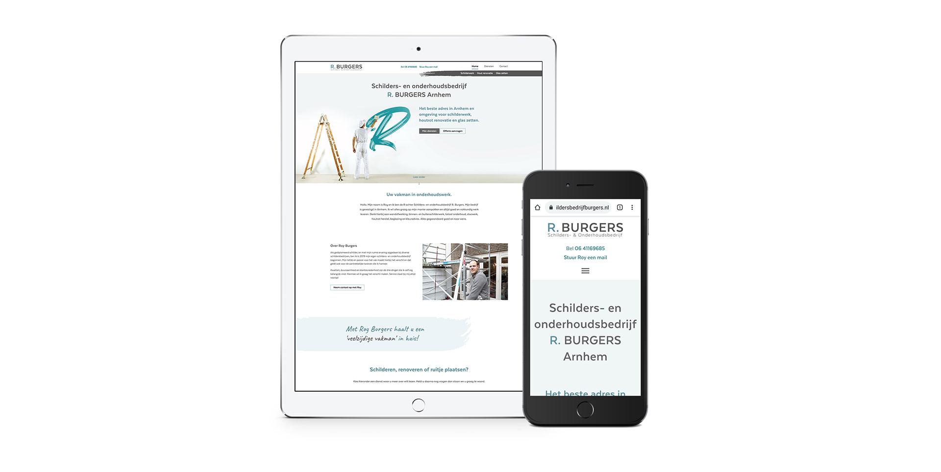 Responsive website Schildersbedrijf