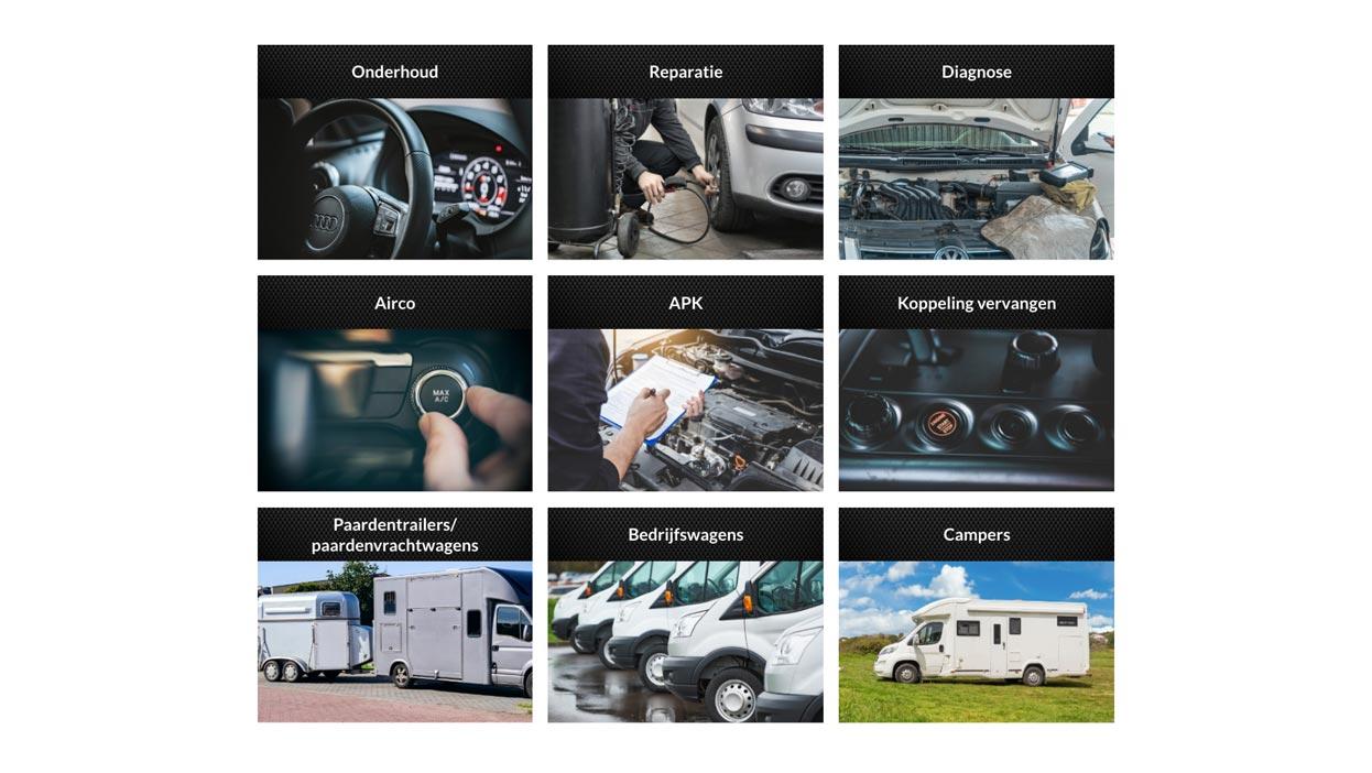 Garage Kooistra website