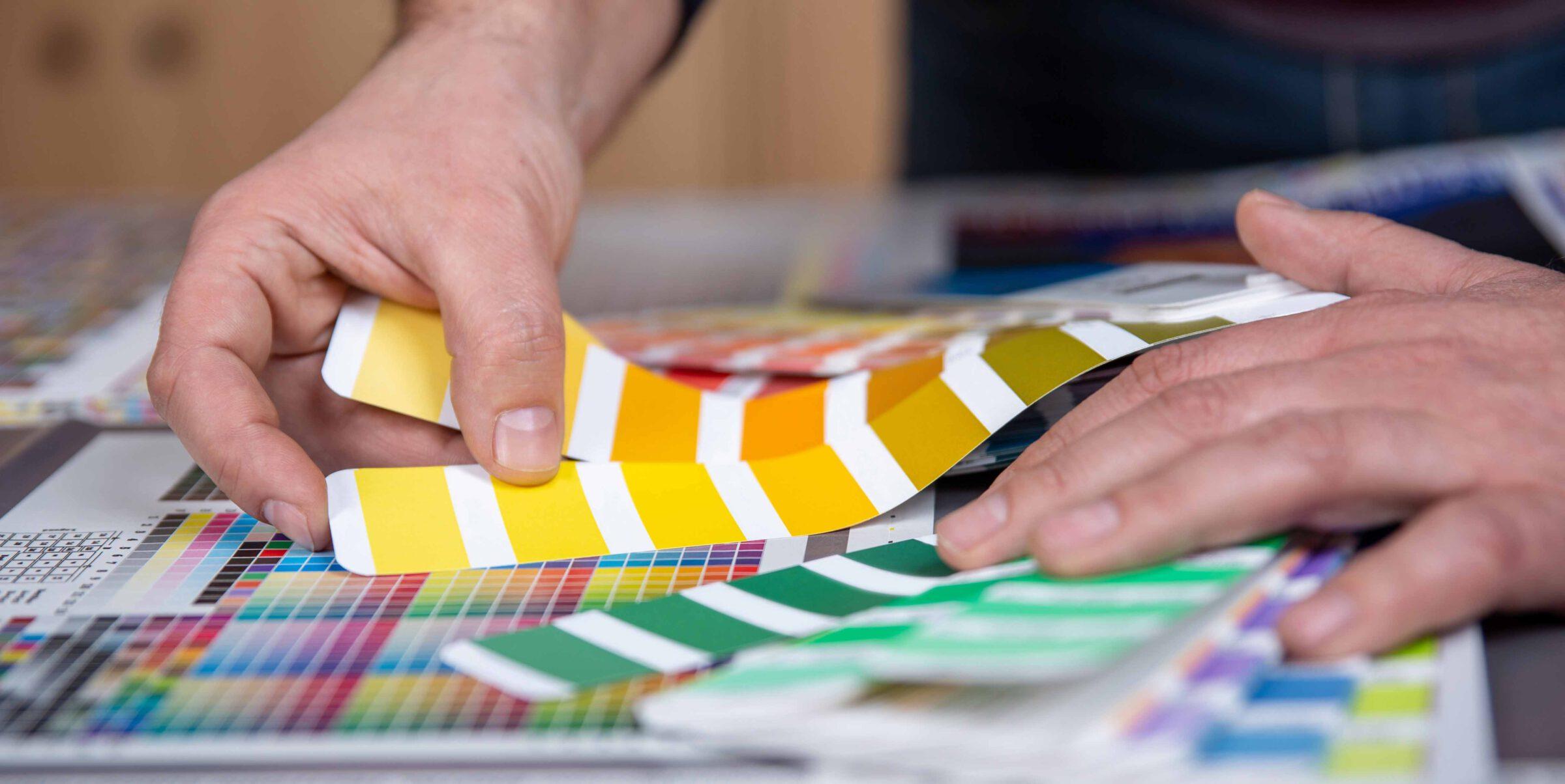 kleuren selecteren voor drukwerk